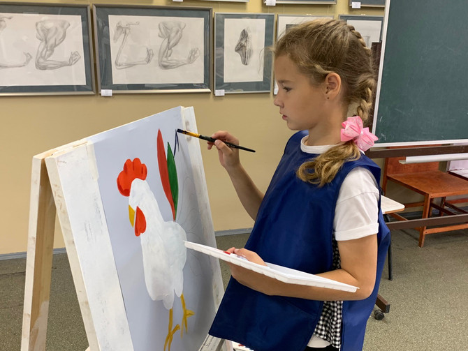 Первый урок живописи