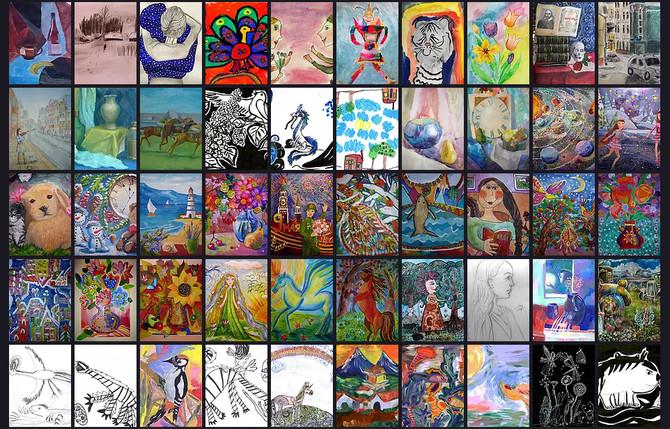 Новое поступление работ во Всероссийскую он-лайн галерею детского рисунка
