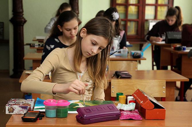 Очный этап Московского Конкурса детского рисунка имени Нади Рушевой