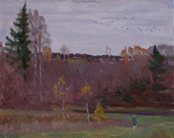 Осень догорела,х.м., 2013