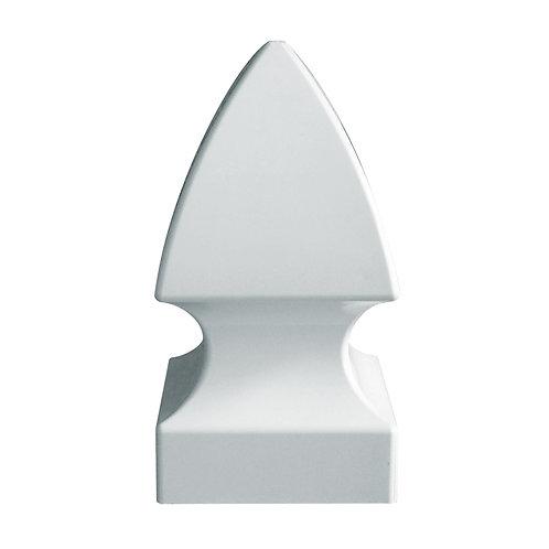 Handy Post French Gothic 4-in x 4-in White Vinyl Post Cap