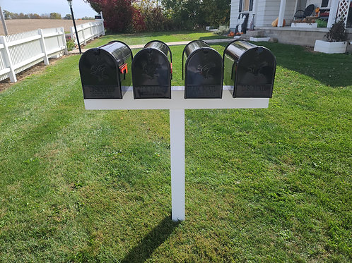 Handy Post 4L, 42-in x 45-in, White, Vinyl, Mailbox Post Sleeve