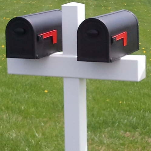Handy Post Double, 54-in x 32-in, White, Vinyl, Mailbox Post Sleeve