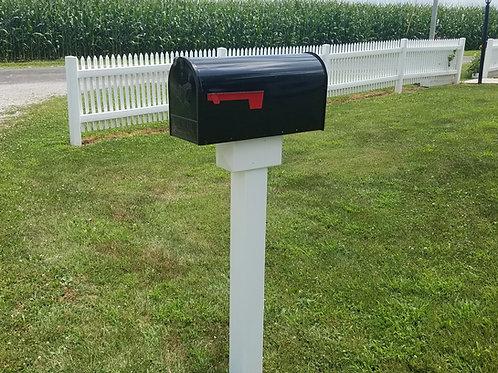 Handy Post 1, 42-in x 8-in, White, Vinyl Mailbox Post Sleeve