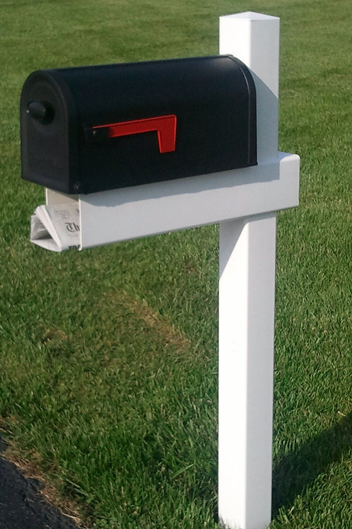 Handy Post, 54-in x 24-in, White, Vinyl, Mailbox Post Sleeve