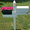 Thumbnail: Handy Post Combo, 54-in x 38-in, White, Vinyl, Mailbox Post Sleeve