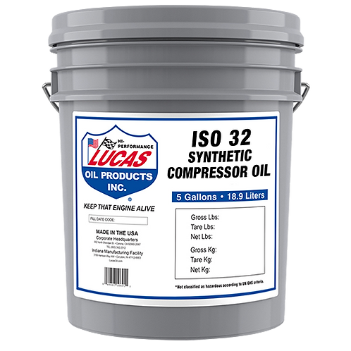 Lucas Oil Synthetic Compressor Oils