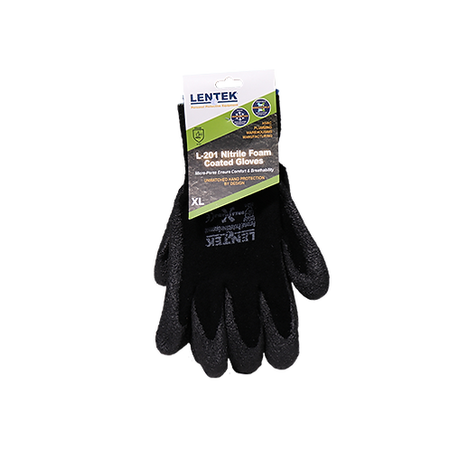 LENTEK™ L201 Nitrile Foam Coated Gloves