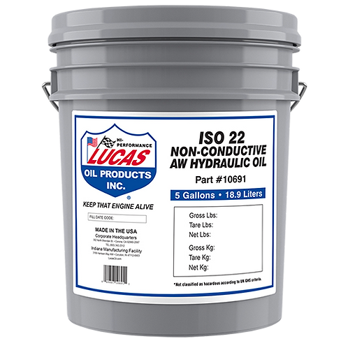Lucas Oil Non-Conductive Anti-Wear Hydraulic Oils