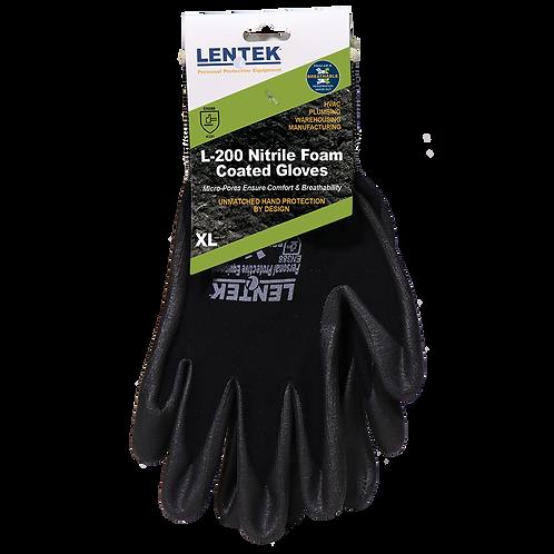 LENTEK™ L200 Nitrile Foam Coated Gloves