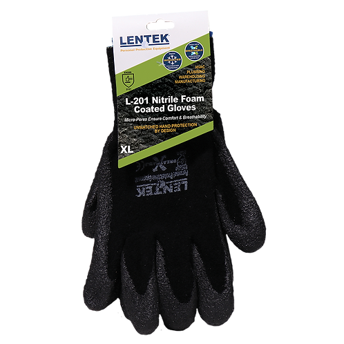LENTEK™ L201 Nitrile Foam Coated Gloves