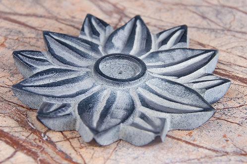 Lotusblume Speckstein - Räucherstäbchenhalter