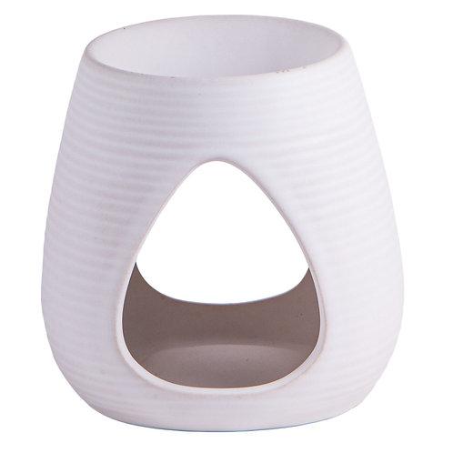 Aromalampe weiß, Keramik