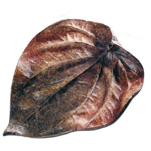 Blatt aus Ton -  Räucherstäbchenhalter  L=16cm