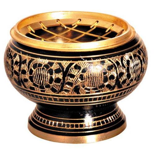 Netzräuchergefäß schwarz / gold Ø ca. 6 cm