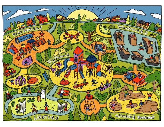 Playworld online illustration