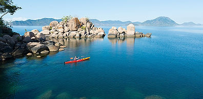 Canoeing on Lake Malawi
