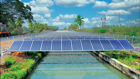 BHEL commissions floating and canal top solar panels for better land use