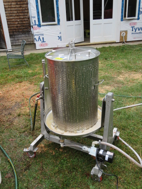 #9 Pumping from the press to the Cider r