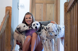 Kaylee-3-Dalmatians-Rosie-Daisy-Belle-on-Stairs