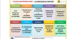 """CORSO """"LA DIREZIONE DI CANTIERE"""" feb-apr 2020"""