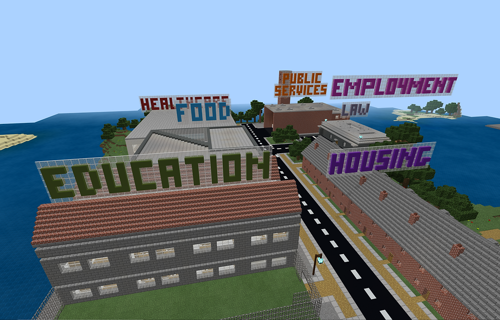 Refugee Crisis Minecraft Lesson - How does this town meet the Sustainable Development Goals?