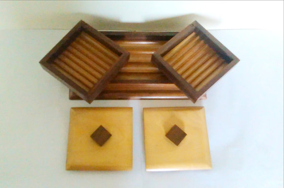 Art Deco cigar and cigarette box