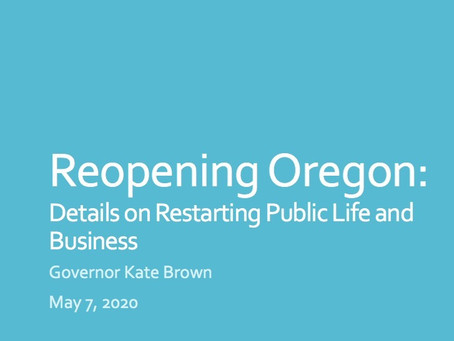 Oregon Coronavirus Update Fri 5/8/2020: Oregon's reopening, Latinx, Children, Masks (again).