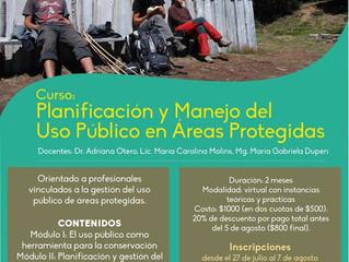 """Curso """"Planificación y Manejo del Uso Público en Áreas Protegidas"""""""