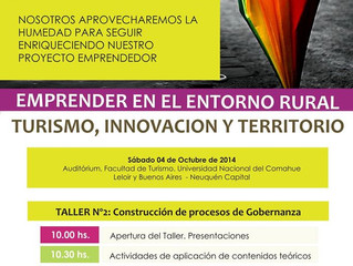 """Segundo Taller de """"Emprender en el entrono rural. Turismo, innovación y territorio"""""""