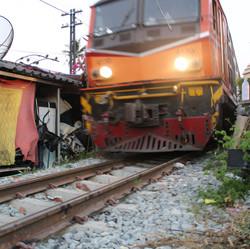 Train Through the Slums