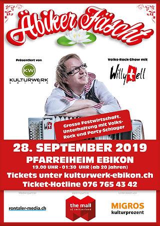 Äbiker Fäscht, Ebikon, Luzern, Willy Tell, Alpen Rock, Kulturwerk Ebikon