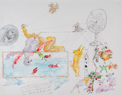 22. Desire to be Reflected, watercolour, pencil, 27. 35 cm, 2015