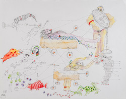 21. How to Deny the Mimetic, watercolour, pencil, 27. 35 cm, 2015