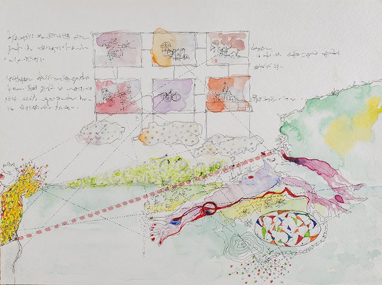 32. Toi Accuse Moi, watercolour, pencil, 23.30 cm, 2015