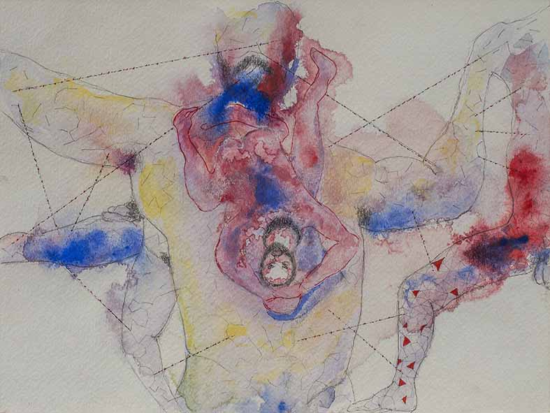 5. Of the Refrain, watercolour, pencil, 23.30 cm, 2015
