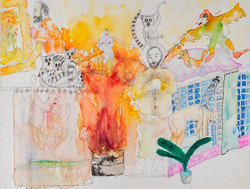 30._The_Great_Fire_of_Contemporary_Art_with_Man_in_Shower_in_Beverly_Hills_and_the_Angel_of_History_