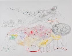 26. Fascist Pig Media, watercolour, pencil, 27. 35 cm, 2015