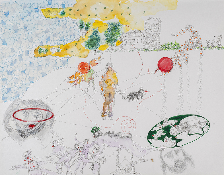 25. Islam and the Queer, watercolour, pencil, 27. 35 cm, 2015