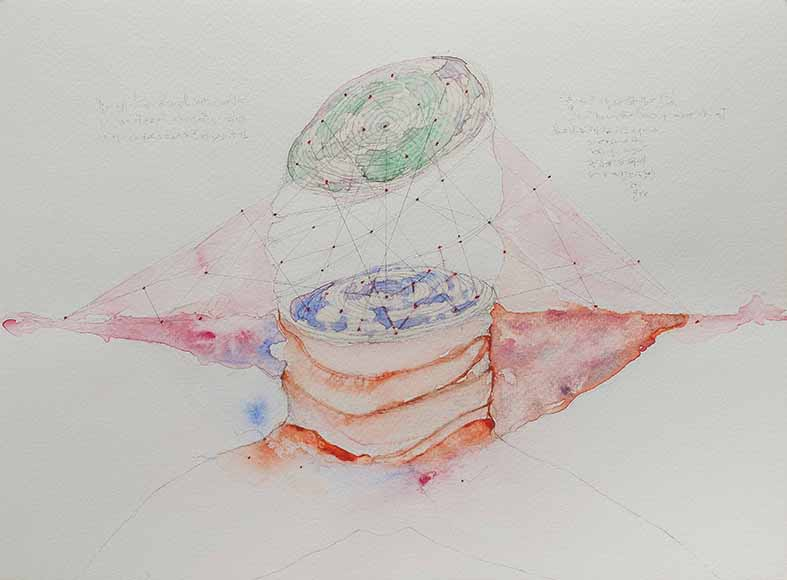 13b. Verso, watercolour, pencil, 23.30 cm, 2015