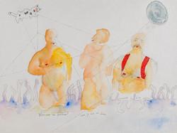 28. Vous etes un fantome, watercolour, pencil, 23.30 cm, 2015