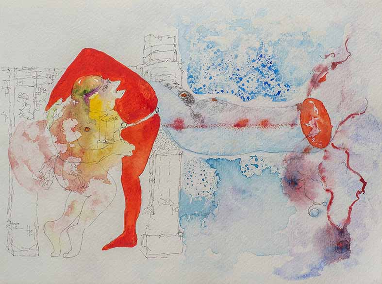 14. Libidinal Economy Ancienne, watercolour, pencil, 23.30 cm, 2015