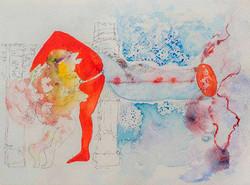14. Libidinal Economy Ancienne, watercolour, pencil, 23.30 cm, 2015