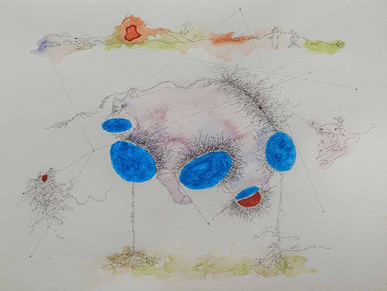 9. Rabid Fascist at Work, watercolour, pencil, 23.30 cm, 2015