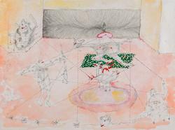 33. Libidinal Nomadology, watercolour, pencil, 23.30 cm, 2015