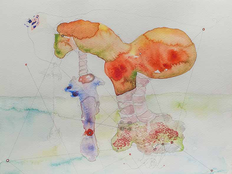 11a. Enigmatic Signifier (top), watercolour, pencil, 23.30 cm, 2015