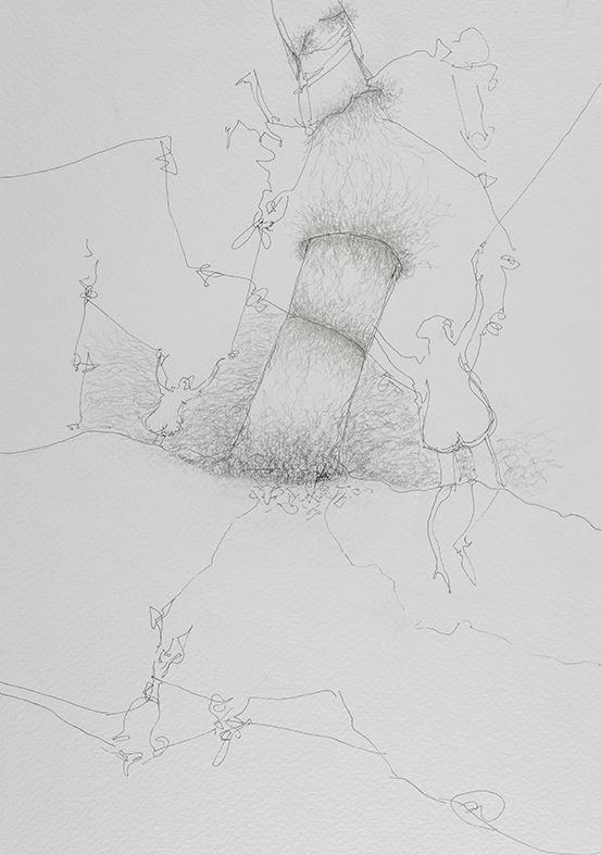 27b. Selfie II, pencil and pen, 23.30 cm, 2015
