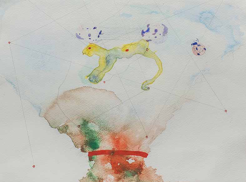 11b. Enigmatic Signifier (bottom), watercolour, pencil, 23.30 cm, 2015