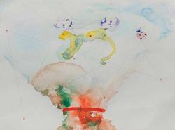 11b. Enigmatic Signifier (bottom), watercolour, pencil, 23.30 cm, 2015