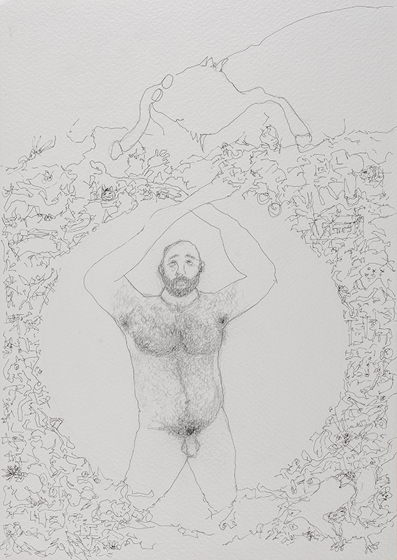 27a. Selfie I, pencil and pen, 23.30 cm, 2015